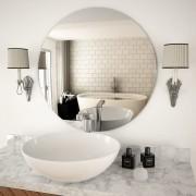 vidaXL Стенно огледало, 70 см, кръгло