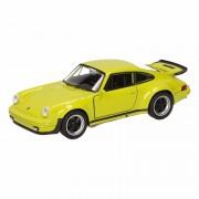 Speelgoed Porsche 911 Turbo groen autootje 12 cm