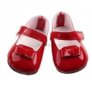 Alcoa Prime Dolls' Flats Sneakers Red Casual Shoes for 43cm Zapf Baby Born Doll ACCSS