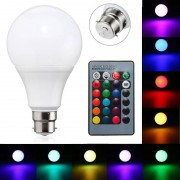 Meco B22 10W Dimmable RGB Color Changing LED Light Lamp Bulb Remote Control AC85-265V
