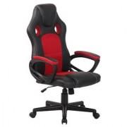 Ofisillas Silla gaming MONTMELO, diseño deportivo, color negro y rojo
