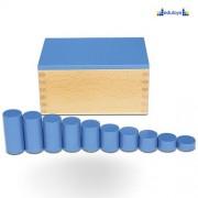 Montesori Kutija sa cilindrom plava 1 kriterijum