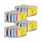 Printflow Compatível: Pack 20 tinteiros Brother LC970 / LC1000 (CMYK)