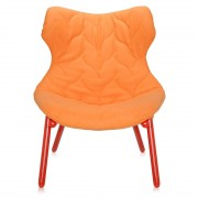 Kartell Foliage Fauteuil Cloth Oranje / Rood
