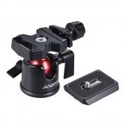 Andoer Mini Balhoofd Balhoofd Tafelblad Statief Stand Adapter w/Quick Release Plaat voor Canon Nikon Sony DSLR Camera Camcorder