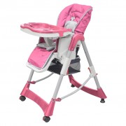 vidaXL beebi söögitool, roosa, reguleeritav kõrgus