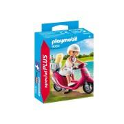Playmobil ® SpecialPLUS Chica en la playa con motocicleta 9084