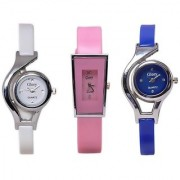 NG Style Of Glory Combo of 3 Analog Casual Wear Wrist Watches For Women / Girl