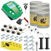 Pachet gard electric complet 6000 m, 7,2 Joule, 230 V, pentru animale sălbatice