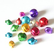100PCS Christmas 6/8/10mm Jingle Bells Iron Loose Beads Small for Festival Party Decoration Christmas Tree Decorations DIY Crafts Accessories