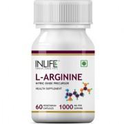 INLIFE L-Arginine 1000mg (60 Vegetarian Capsules) Per Serving Nitric Oxide Precursor