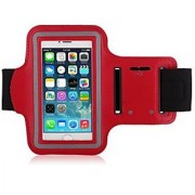 iPhone 6/6s Armband Waterproof iPhone 6/6s 4.7 Armband Sport Armband Case with Key Holder and Headphone Jack Hole for Apple iPhone 6 4.7 inch iPhone 6 Armband for Sports (Running Jogging Gym Cycling Walking Fishing Exercise Fitness and etc.) (Red