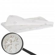 Wohndecke Schnee, Tagesdecke Kuscheldecke Sofadecke, flauschig weiß Pailletten 150x120cm ~ Variantenangebot