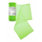 Merkloos Neon groene organza strook 12 x 300 cm