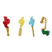 LEGO Ninjago Ninja Set of 4 Techno Blades (LOOSE) - Red, Blue, Green, Yellow