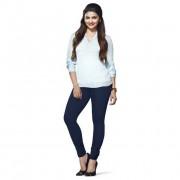 LUX Lyra Cotton Stretchable Full length Churidar Lycra Leggings for women - Navy Blue