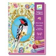 Djeco Glitter Art Board Sets - Glitter Birds
