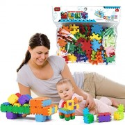 Sanyal Mini Bricks Blocks Toys for Kids Children Colorful Plastic Educational Variety Inset Building Block Models - ( Multicolor )