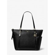MK Nomad Large Saffiano Leather Top-Zip Tote Bag - Black - Michael Kors