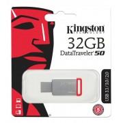Kingston 32GB USB 3.0 DataTraveler 50, silver/röd