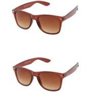 Closer Brown Wayfarer Sunglasses For Men Women-Combo-Xz343-343A