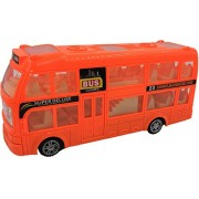 ToyZe® Bump and Go Action, Double Decker Bus Toy, with Lights and Sounds.