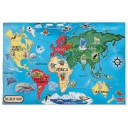 Melissa Doug Puzzle de podea Harta lumii