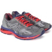 Asics GEL - NIMBUS 19 Running Shoes For Men(Red, Grey)