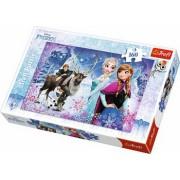 Puzzle clasic pentru copii - Frozen Elsa si prietenii 160 piese