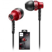 Philips SHE9100 3.5mm Metal Handsfree Headphone Earphone with Mic(RED)