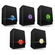 Max-Pro ALL 5 ICONIC ELEMENTAL Symbol DECK BOXES ( Box fits MTG Mana FORCE OF WILL Pokemon Cards) by Max Protection