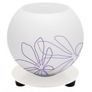 Brilliant Tafellamp Motief 14 cm hoog in wit met violet bloemmotief