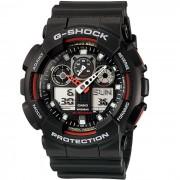 Reloj analogico-digital estandar casio g-shock GA-100-1A4ER para hombre-negro