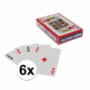Geen Speelkaarten setjes 6 stuks