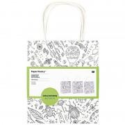 Merkloos 9x Knutsel papieren tassen/tasjes om in te kleuren voor kinderen