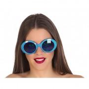 Fiesta carnavales Blauwe ronde verkleed zonnebril