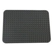 "Premium Dark Gray Base Plate 15"" X 10.5"" Baseplate (Lego Duplo Compatible)"