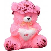 Giant 6 Feet Pink Cap Teddy Bear in sitting position