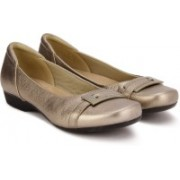 Clarks Blanche West Gold Metallic Bellies For Women(Copper)