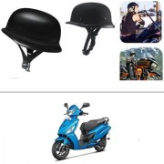 AutoStark German Style Half Helmet Matte Black) for Hero Maestro Edge