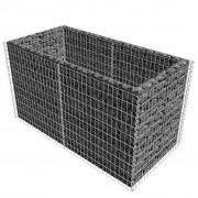 vidaXL Gabion plantenbak 180x90x100 cm staal zilver