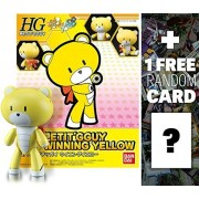 Winning Yellow Petite Beargguy: Gundam High Grade Petit'gguy 1/144 Model Kit + 1 FREE Official Gundam Japanese Trading Card Bundle (HG Petit'gguy #03)