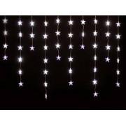 Beltéri fényfüggöny 50 db fehér LED, Csillag Dekor 135cm KAF50L