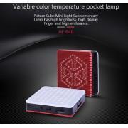 TOLIFO HF-64B LED 64 SMD Pocket-Sized Built-in battery CRI95 LED Photo Light for Phone Vlog Youtube – Lampa bi-colora cu acumulator intern