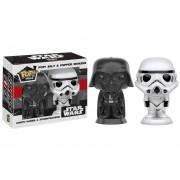 Funko Pop Darth Vader & Stormtrooper Salero Pimentero Ceramica