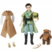 Hasbro Figuras Princesa Leia y Ewok - Star Wars: Forces of Destiny