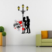 EJA Art Valentine My Love Wall Sticker (Material - PVC) (Pec - 1) With Free Set of 12 pec butterflies sticker
