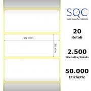 Etichette SQC - Carta patinata (bobina), formato 89 x 36