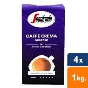 Segafredo - Caffe crema gustoso Bonen - 4x 1 kg