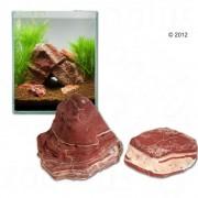 Rocas de Borgoña veteadas para acuarios - Set 120 cm: 10 rocas naturales, aprox. 24 kg